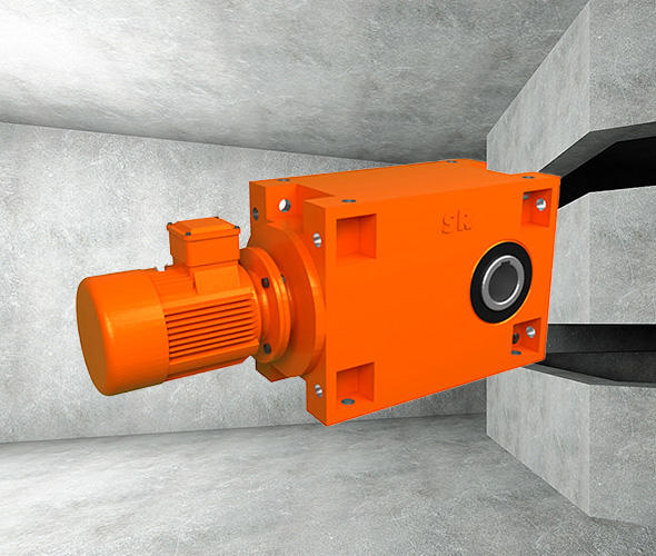 Hexahedron-mounted Heavy Load Hardened Gear Reducer
